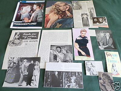 Anne Francis - Film Star - Clippings /cuttings Pack