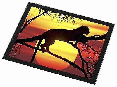 Leopard Black Rim Glass Placemat Animal Table Gift, AT-31GP