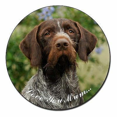 German Wirehaired Pointer 'Love You Mum' Fridge Magnet Stocking Fi, AD-GWP1lymFM
