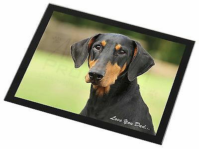 Doberman Pinscher /'Love You Dad/' Photo Slate Christmas Gift Ornament DAD-21SL