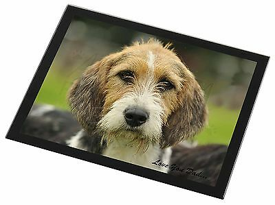 Fox Hound 'Love You Dad' Black Rim Glass Placemat Animal Table Gift, DAD-30GP