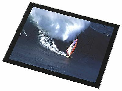 Wind Surfer Black Rim Glass Placemat Animal Table Gift, SPO-WS2GP