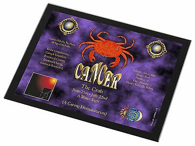 Cancer Star Sign Birthday Gift Black Rim Glass Placemat Animal Table Gi, ZOD-4GP