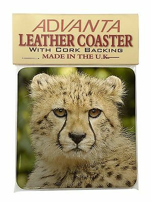 Cheetah Single Leather Photo Coaster Animal Breed Gift, AT-40SC
