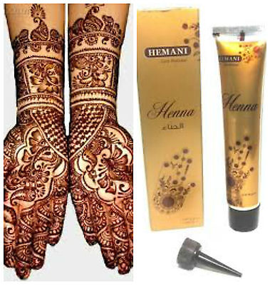 Hemani Henna 33g BROWN Mehendi Mehndi Pre Mixed Paste Cone USA SELLER FAST SHIP