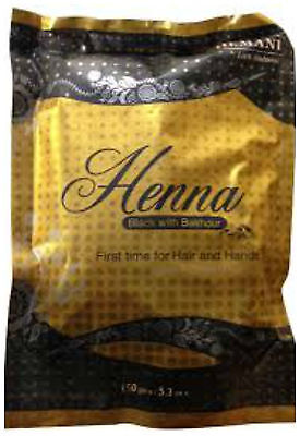 150g Hemani Natural Black Henna Powder with Bakhour & Essential Oils Hair Color