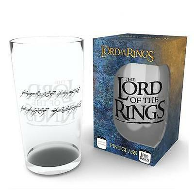 Official Licensed Product The Lord Of The Rings Large Glass Pint Gift Box New