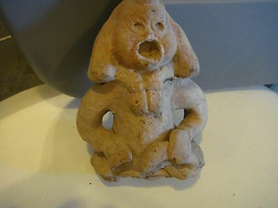 Authentic Pre Columbian Macarbe  Figure Mayan Classic Period Over 1000 Years Old