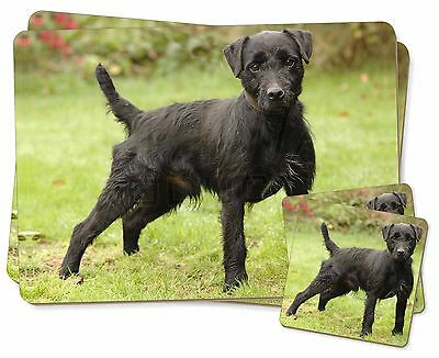 Fell Terrier Dog Twin 2x Placemats+2x Coasters Set in Gift Box, AD-FT1PC