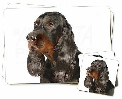 Gordon Setter Dog Twin 2x Placemats+2x Coasters Set in Gift Box, AD-GOR1PC