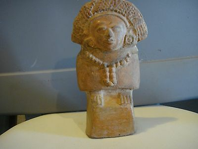 "AUTHENTIC PRE COLUMBIAN FIGURE 7"" x 4. MAYAN CLASSIC PERIOD OVER 1000 YEARS OLD"
