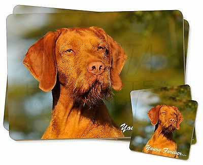 Wirehair Vizsa 'Yours Forever' Twin 2x Placemats+2x Coasters Set in , AD-HWV1YPC