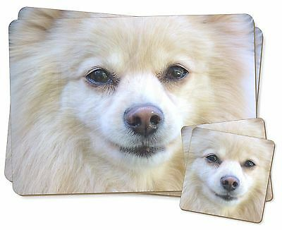 Japanese Spitz Dog Twin 2x Placemats+2x Coasters Set in Gift Box, AD-PA61PC
