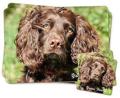 Chocolate Spaniel 'Yours Forever' Twin 2x Placemats+2x Coasters Set i, AD-SC4YPC