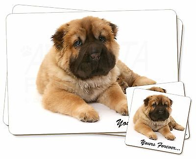 Shar-Pei Puppy 'Yours Forever' Twin 2x Placemats+2x Coasters Set in Gi, AD-SH3PC