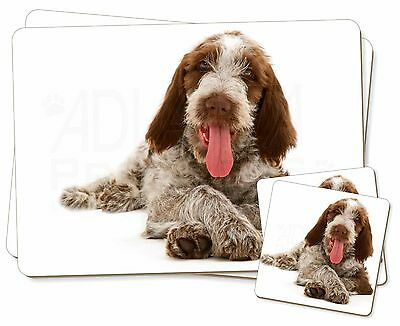 Italian Spinone Dog Twin 2x Placemats+2x Coasters Set in Gift Box, AD-SP2PC