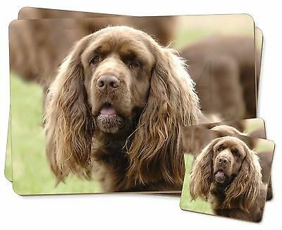 Sussex Spaniel Dog Twin 2x Placemats+2x Coasters Set in Gift Box, AD-SUS1PC