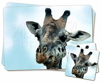 Cheeky Giraffes Face Glass Paperweight in Gift Box Christmas Present AG-10PW