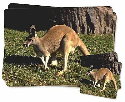 Kangaroo Twin 2x Placemats+2x Coasters Set in Gift Box, AK-2PC