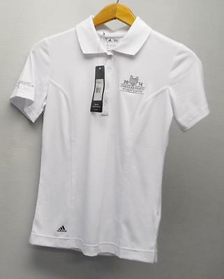New Ladies Adidas puremotion White short sleeve polyester golf shirt Small