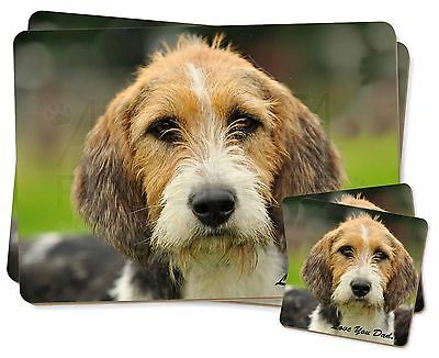 Fox Hound 'Love You Dad' Twin 2x Placemats+2x Coasters Set in Gift Box, DAD-30PC