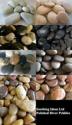 Polished River Stones 25-40mm Various Shades and Weights Garden Water Features