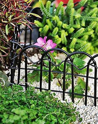"Miniature Black Wire Garden Fence 2.5"" X 24"" Dollhouse Or Fairy Garden New Nwt"