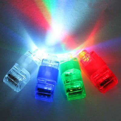 LED Finger Lights Party Laser Flash Torch Festival Toy Glow Ring DISCO Lights