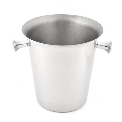 Kitchen Bar Stainless Steel Champagne Wine Cooler Ice Bucket With Handle