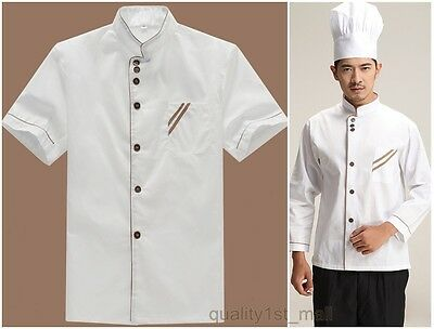 Chef Jacket Restaurant Catering Team Uniform Short Sleeve Food Service Clothing