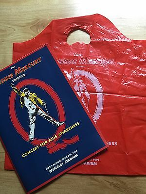 Freddie Mercury Tribute Concert Programme And Carrier Bag