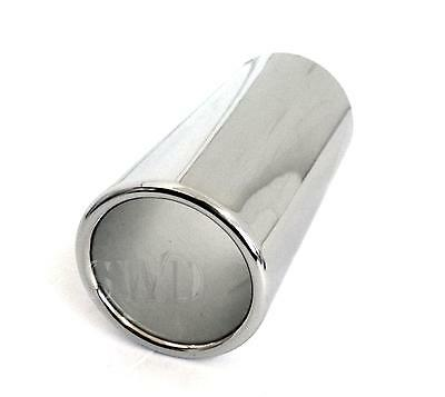 Car Exhaust Tip End Chrome steel Tail Pipe cover 60mm trim easy fit UNIVERSAL