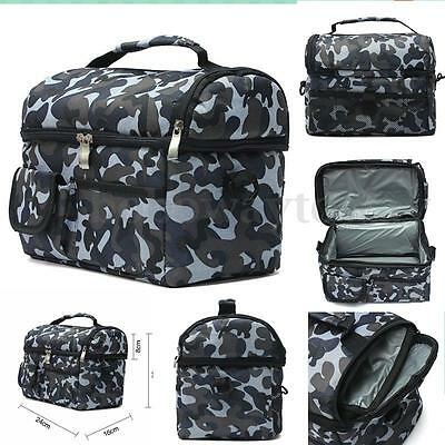 Portable Picnic Lunch Box Thermal Insulated Cooler Bag Ice Wine Bag Travel Ocean
