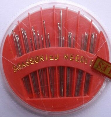 WILLIAMS COMPACT 30 ASSORTED HAND SEWING NEEDLES 1or 2 PACKS