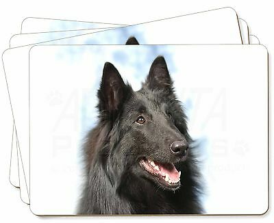 Black Belgian Shepherd Dog Picture Placemats in Gift Box, AD-BS3P
