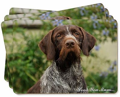 German Wirehaired Pointer 'Love You Mum' Picture Placemats in Gift , AD-GWP1lymP