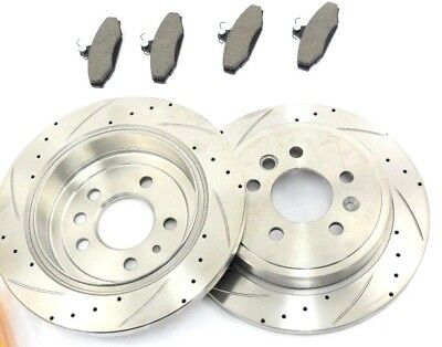 Ford Falcon  Cross- Slotted  & Drilled Rear Discs And Brake Pads Ba Bf Fg Models