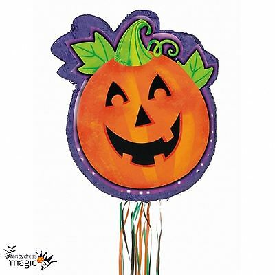 Carved Pumpkin Jack O'Lantern Halloween Pull Pinata Party Game Decoration Prop