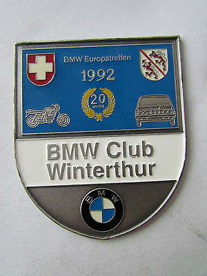 Bmw Club Winterthur / Schweiz Europatreffen Badge Autoplakette Plaque Placca
