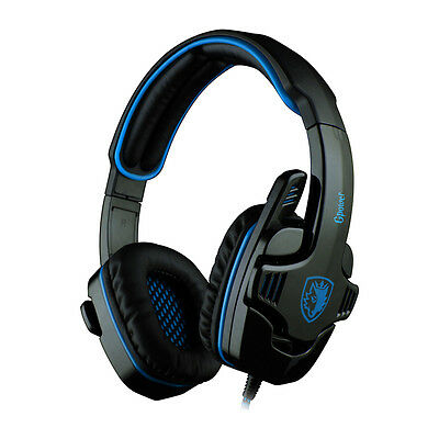 SADES SA-708 PC Stereo Gaming Headset 40mm Drivers - Blu