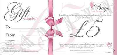 Gift Voucher - £5.00 - Candles - Home Decor - Gift Sets - Party Bags and more!!