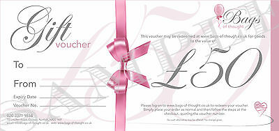 Gift Voucher - £50.00 - Candles - Home Decor - Gift Sets - Party Bags and more!