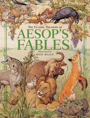 The Classic Treasury Of Aesop's Fables - New Hardcover Book