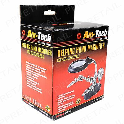 Magnifying Soldering Stand +WITH CLAMPS+ Glass Third Craft Weld Holder Jewellery