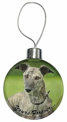 Greyhound Dog 'Yours Forever' Christmas Tree Bauble Decoration Gift, AD-LU7yCB