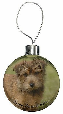 Norfolk Norwich Terrier 'Love You Mum' Christmas Tree Bauble Decora, AD-NT1lymCB