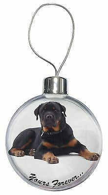 Rotweiler Dog 'Yours Forever' Christmas Tree Bauble Decoration Gift, AD-RW5CB