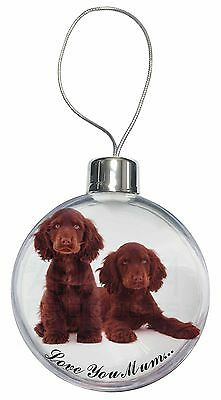Chocolate Cocker Spaniels 'Love You Mum' Christmas Tree Bauble Deco, AD-SC9lymCB