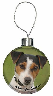 Jack Russell 'Love You Dad' Christmas Tree Bauble Decoration Gift, DAD-60CB