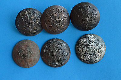 WW1 Russian Imperial Buttons from Uniforms